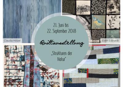 Quiltausstellung – Vernissage in der U.R. Galerie & Kunst im Freiraum am 21.06.2018